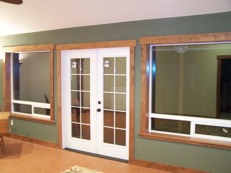 door and window molding pictures rustic