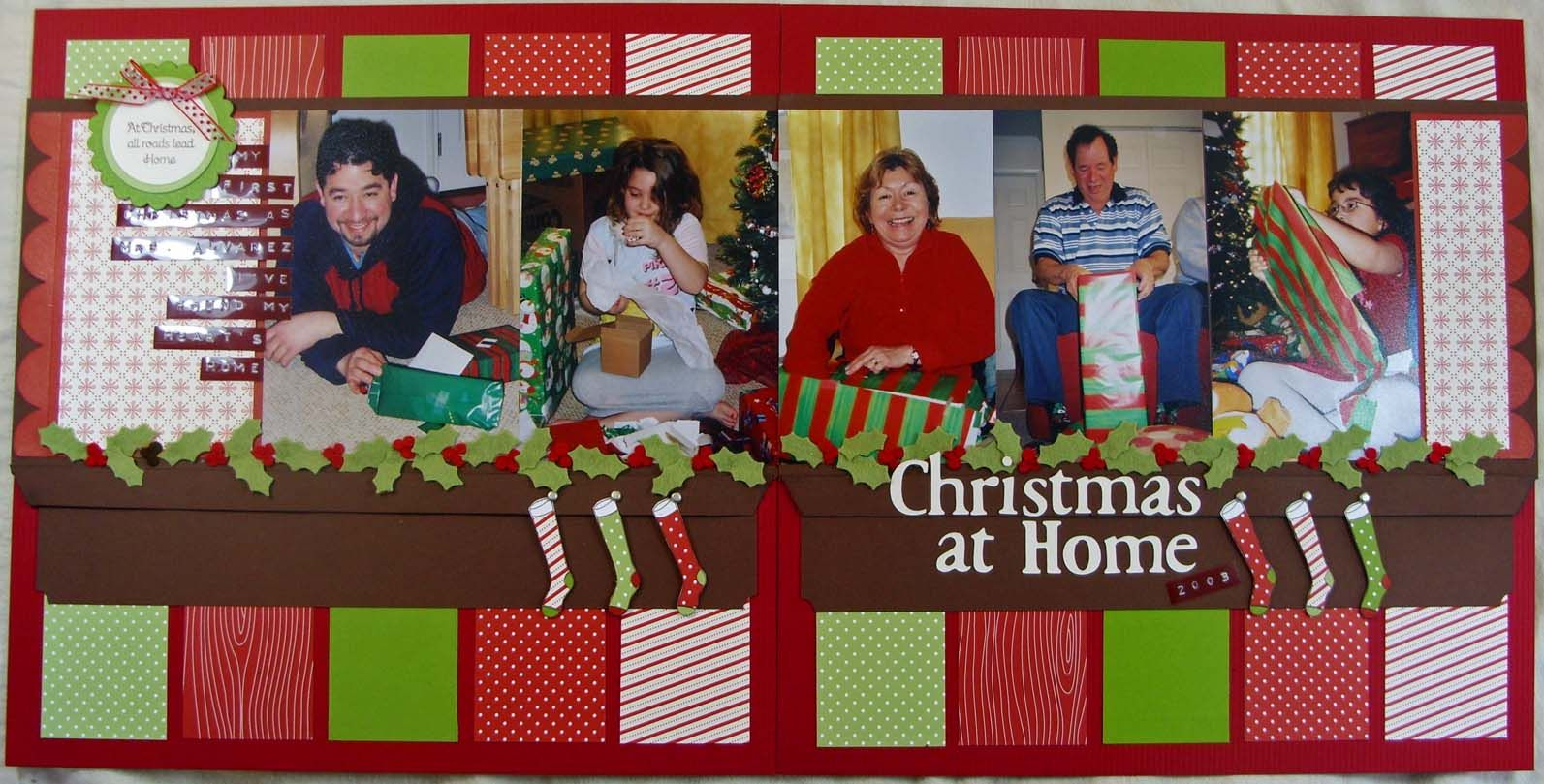 Christmas scrapbook layouts ideas scrapbook again a muse studio products are great