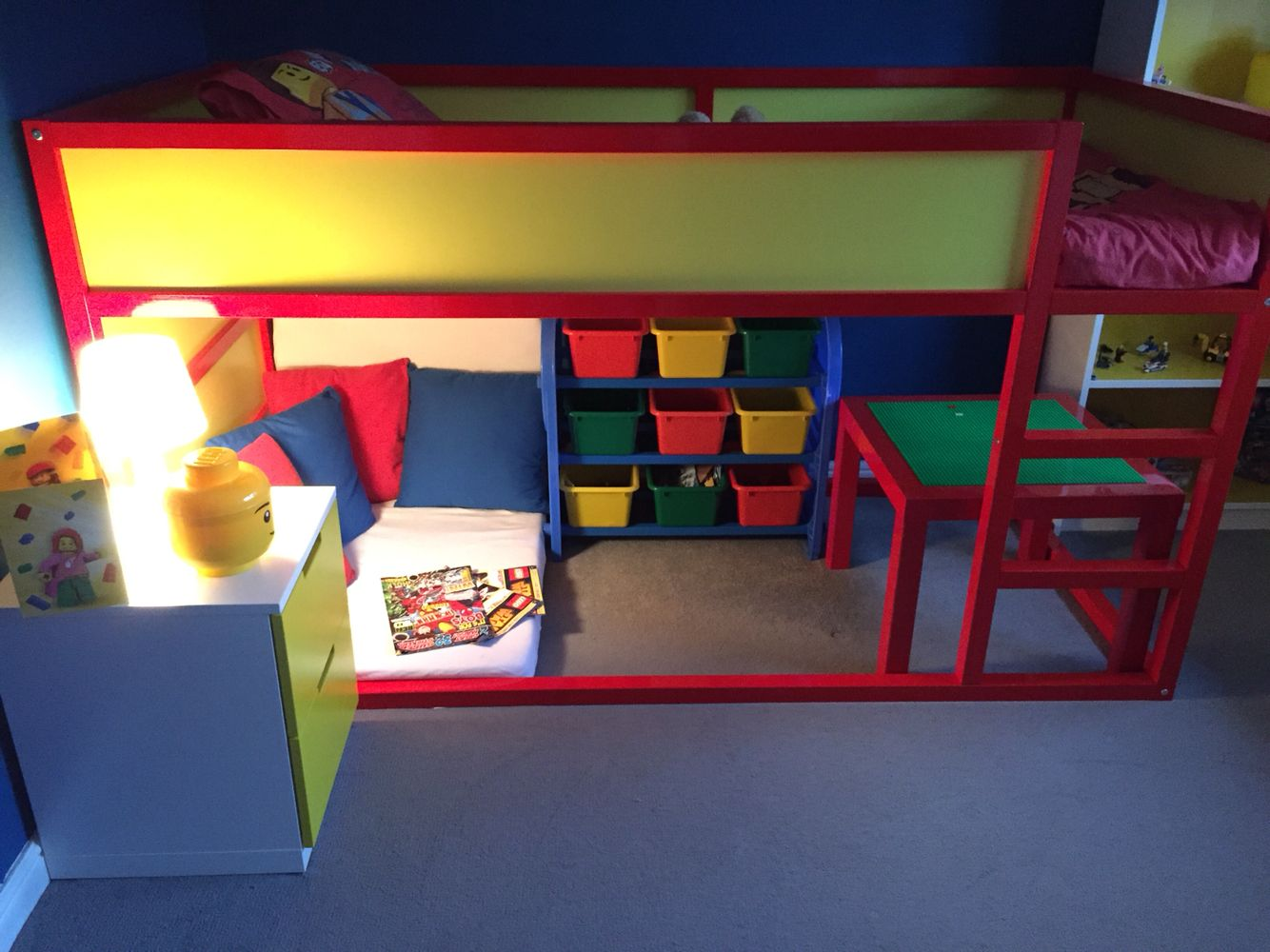 Stuva Loft Bed Lego Bedroom Completed! Ikea Kura Bed Hack | Milo's Room