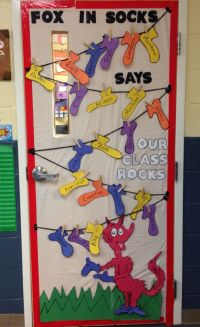 Dr. Seuss - Fox in Socks - classroom door decoration ...