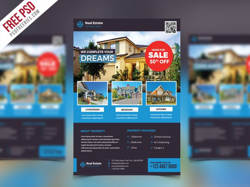 Cool Real Estate Flyer PSD Free Template Download Real Estate - advertising flyer template