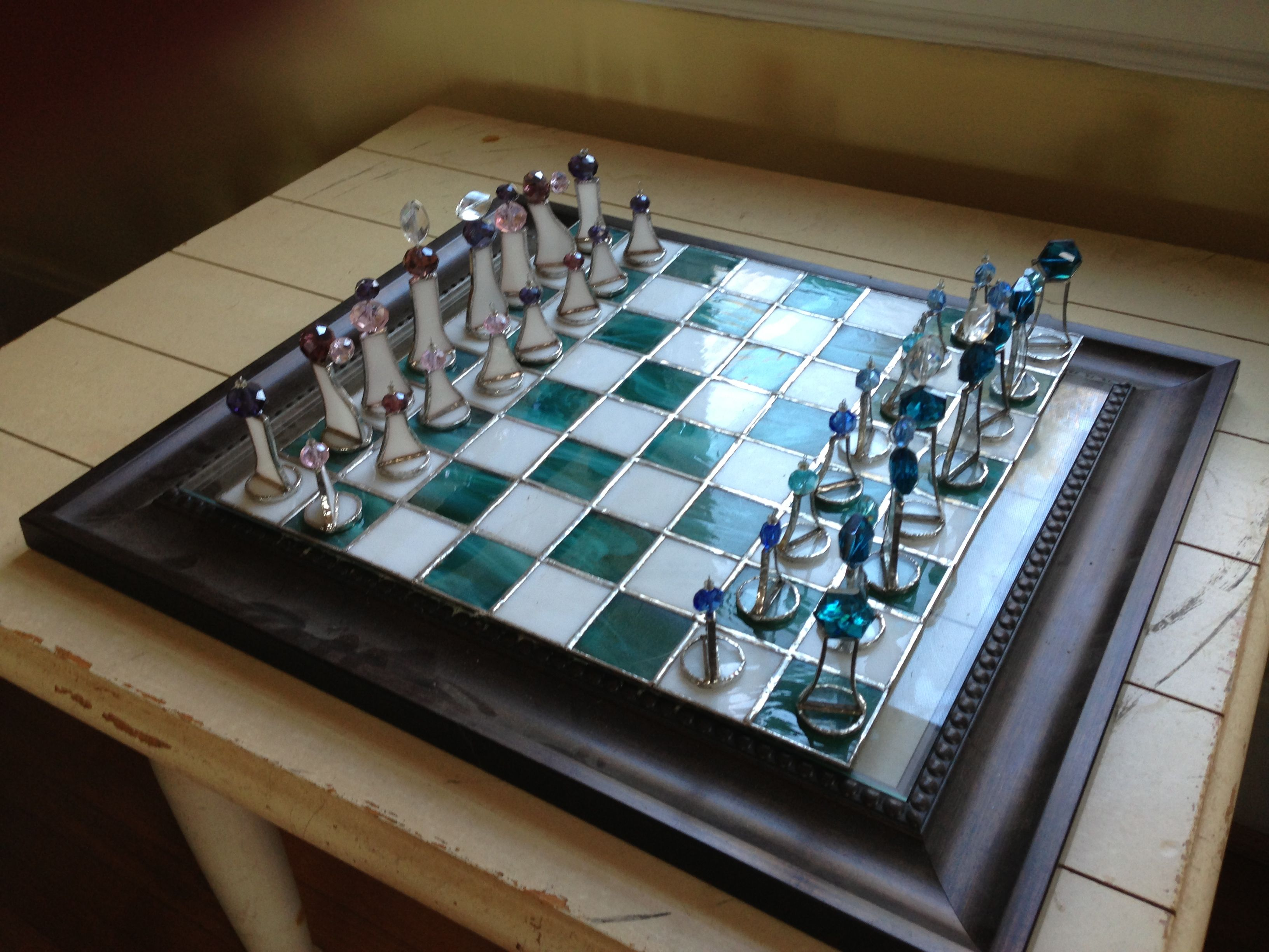 Chest Game Set Stained Glass Chess Set Crafts I 39ve Done Pinterest