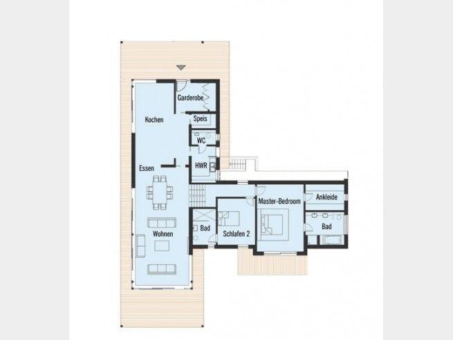 Grundriss EG Bungalow Bowles #Einfamilienhaus von Baufritz - badezimmer grundriss