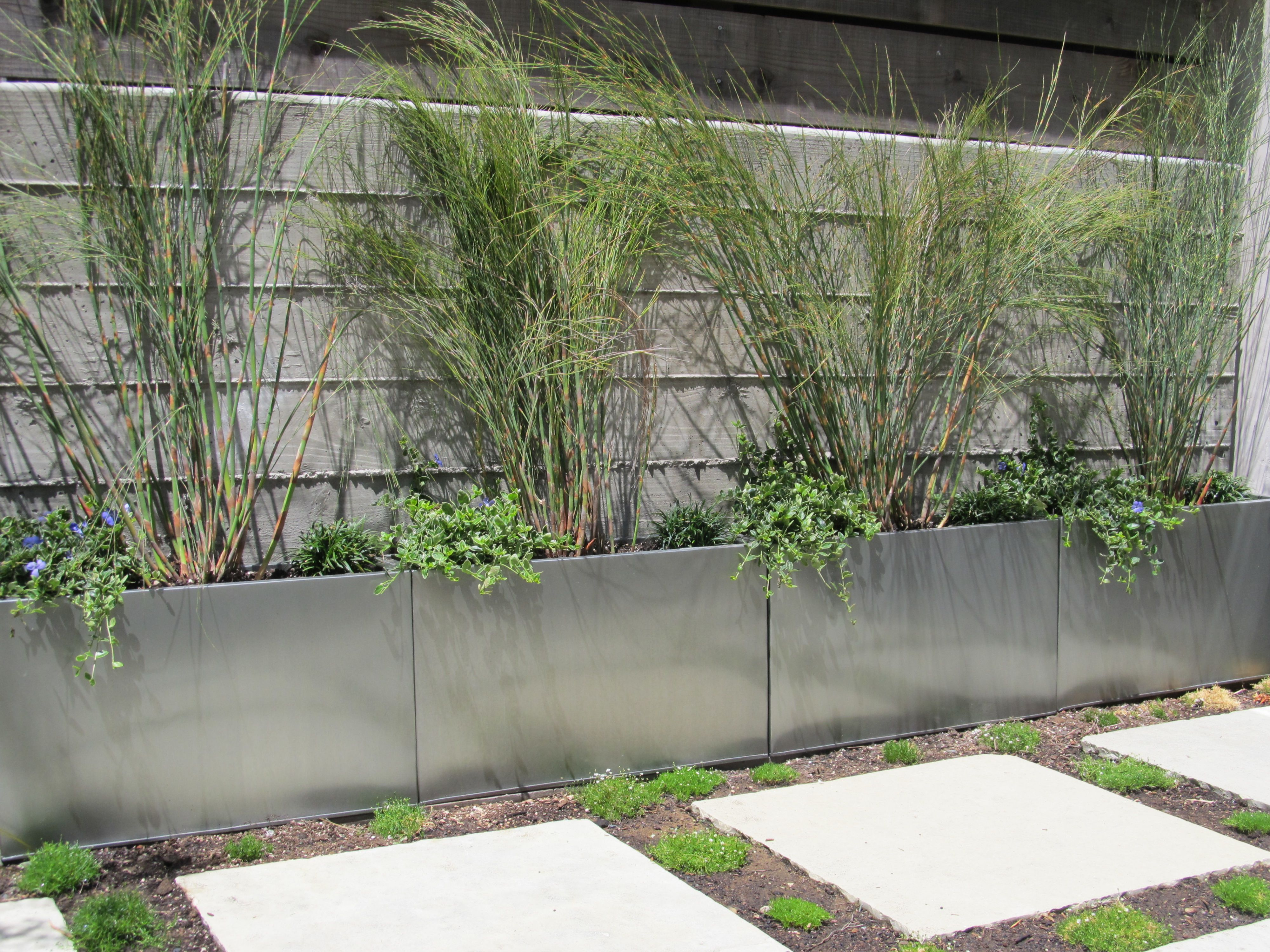 modern trough planter pewter large modern outdoor planters by -  modern planter boxes metal planters download