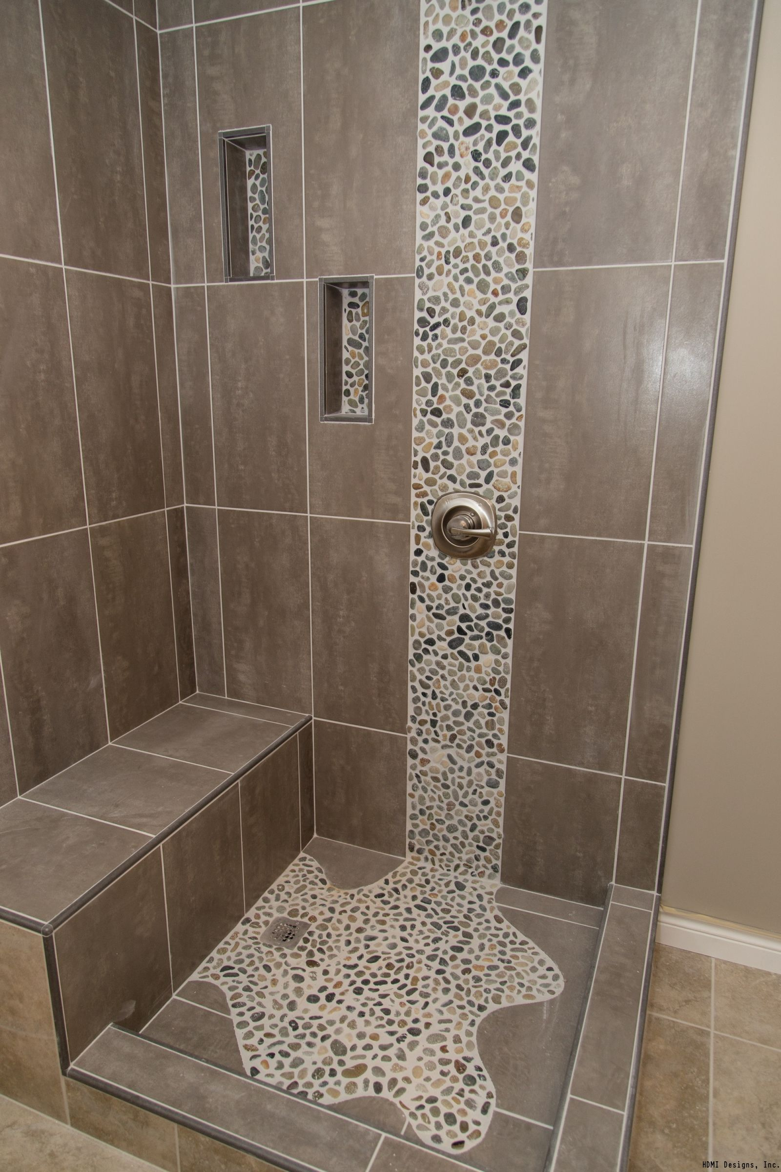 Bathroom Tiles Pictures Spruce Up Your Shower By Adding Pebble Tile Accents Click