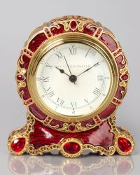 Bryce Crystal Scroll Clock | Jay strongwater, Clocks and ...