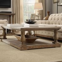Edmaire Rustic Baluster 60-inch Coffee Table by SIGNAL ...