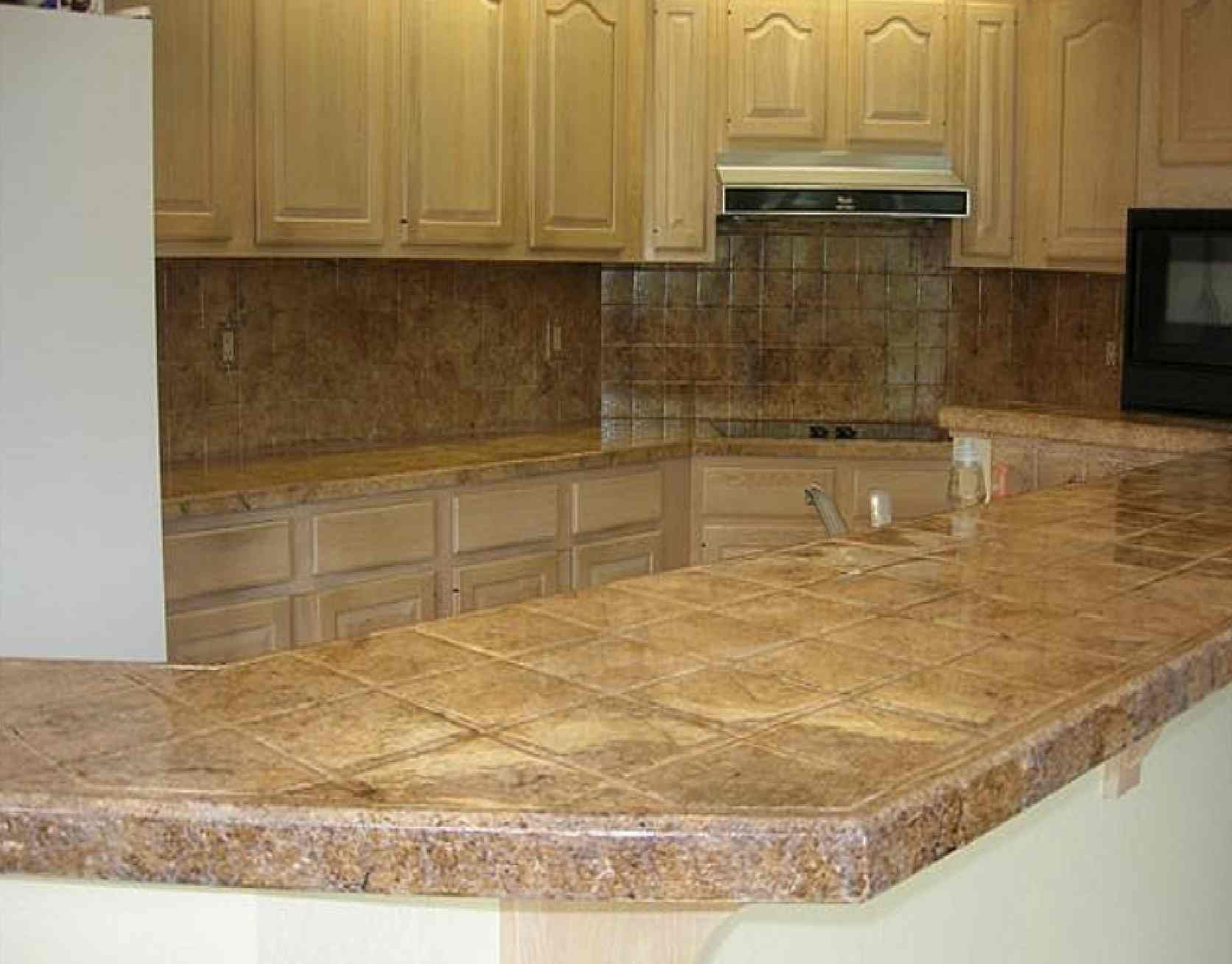 kitchen counter ideas kitchen countertop tile Tile Kitchen Countertop Design