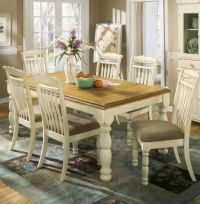 Cottage White/Honey Dining Room Extension Table (Table ...