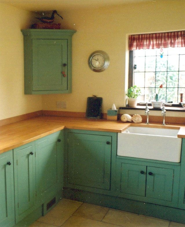 Vintage Green Kitchen Cabinets Painting On Pinterest | Painted Kitchen Cabinets, Kitchen