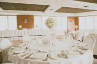 Elegant Wedding Reception Table Settings | Sorrento Room ...