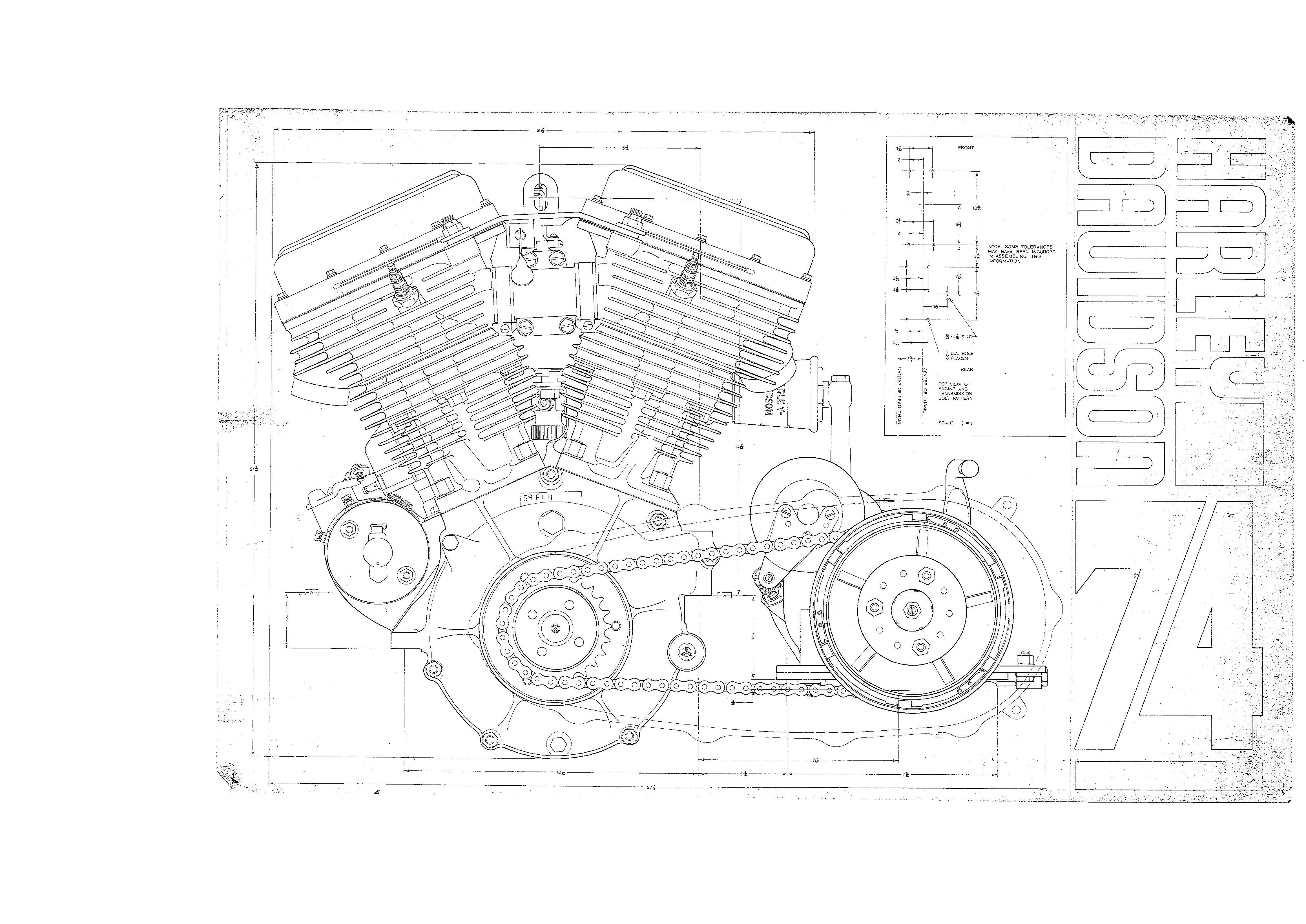 vintage engine diagram