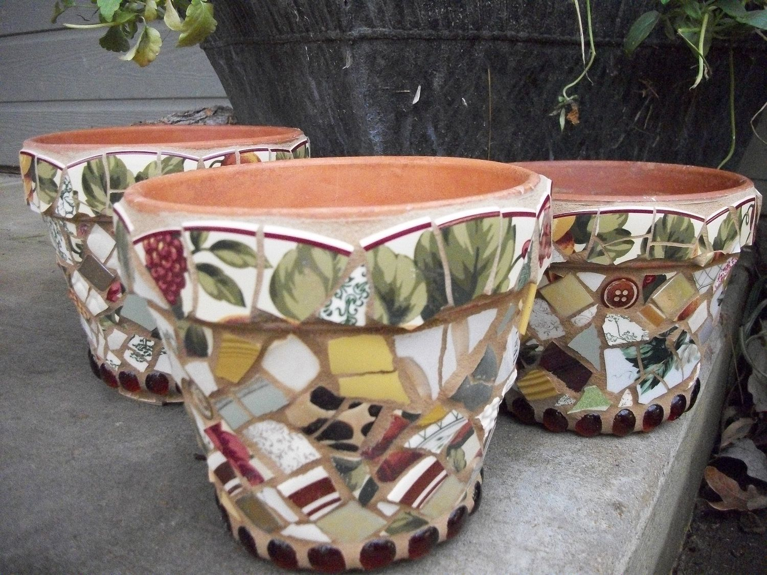 Plant Pot Sale Mosaic Flower Pot X 3 Mosaic Flower Pots Yard Sale And
