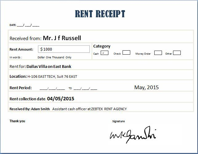 House Rent Receipt Doc  House Rent Receipt Doc