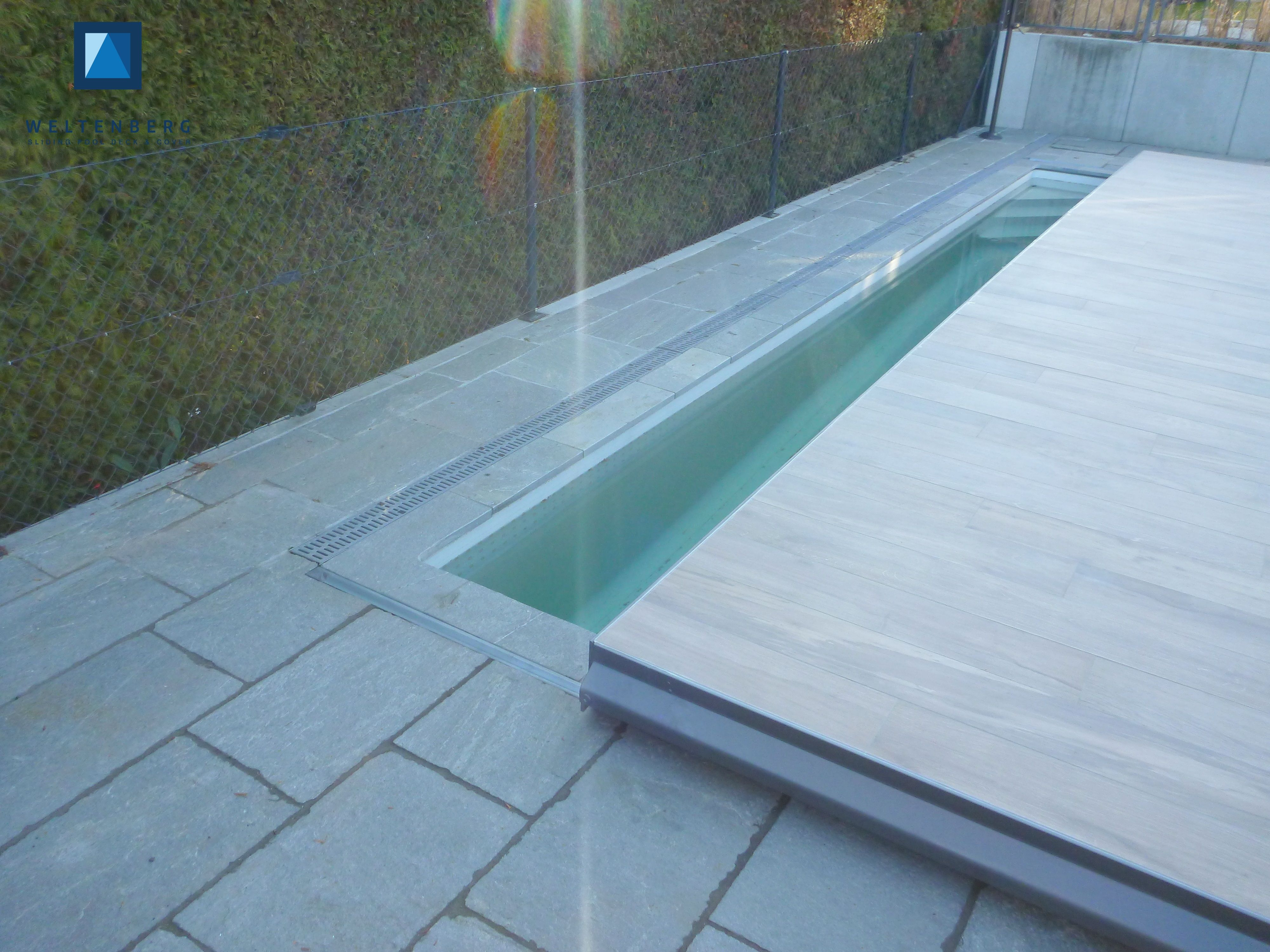 Pool Terrasse Sliding Swimming Pool Cover And Terrace Movable Pooldeck