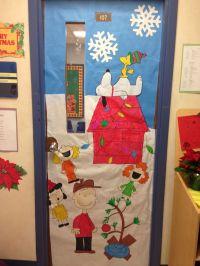 My classroom door, Charlie Brown Christmas!   Crafty ...