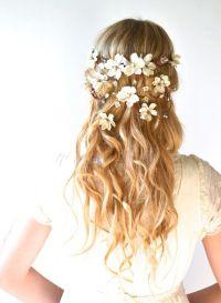 Bridal crown, flower head wreath, wedding hair accessory ...
