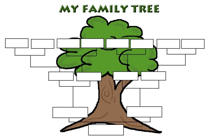 Simple Family Tree Templates You can also check out the Children - blank family tree template
