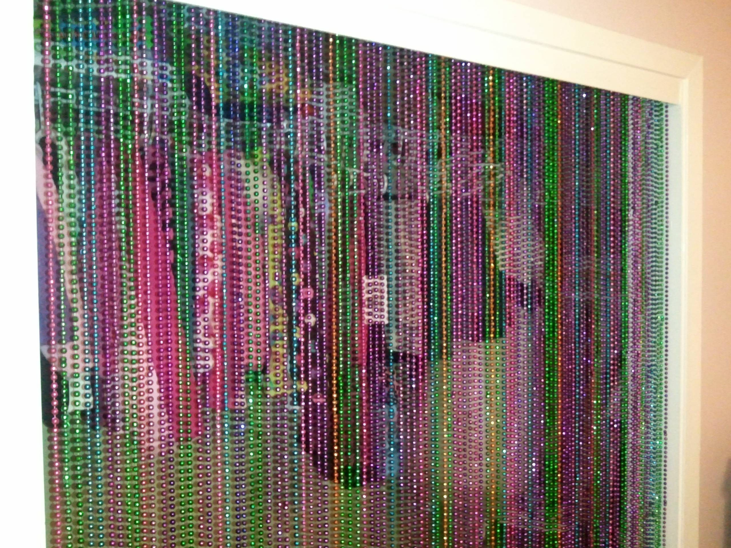 Closet Beads Curtains Ways To Reuse Mardi Gras Beads Cut In Half To Strings Of