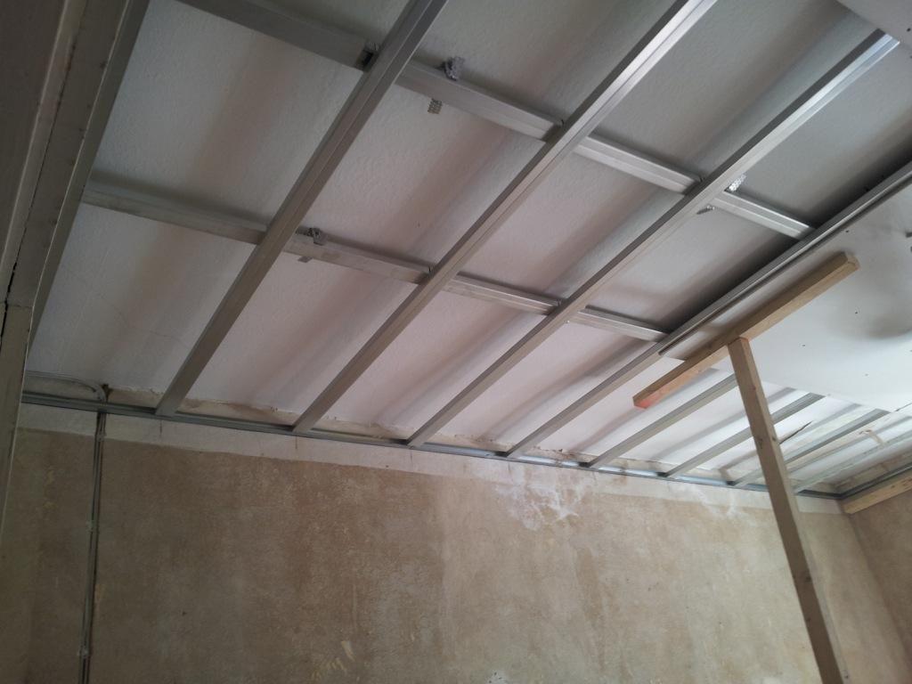 Trockenbau Gerade Decken Durch Unterkonstruktion Und