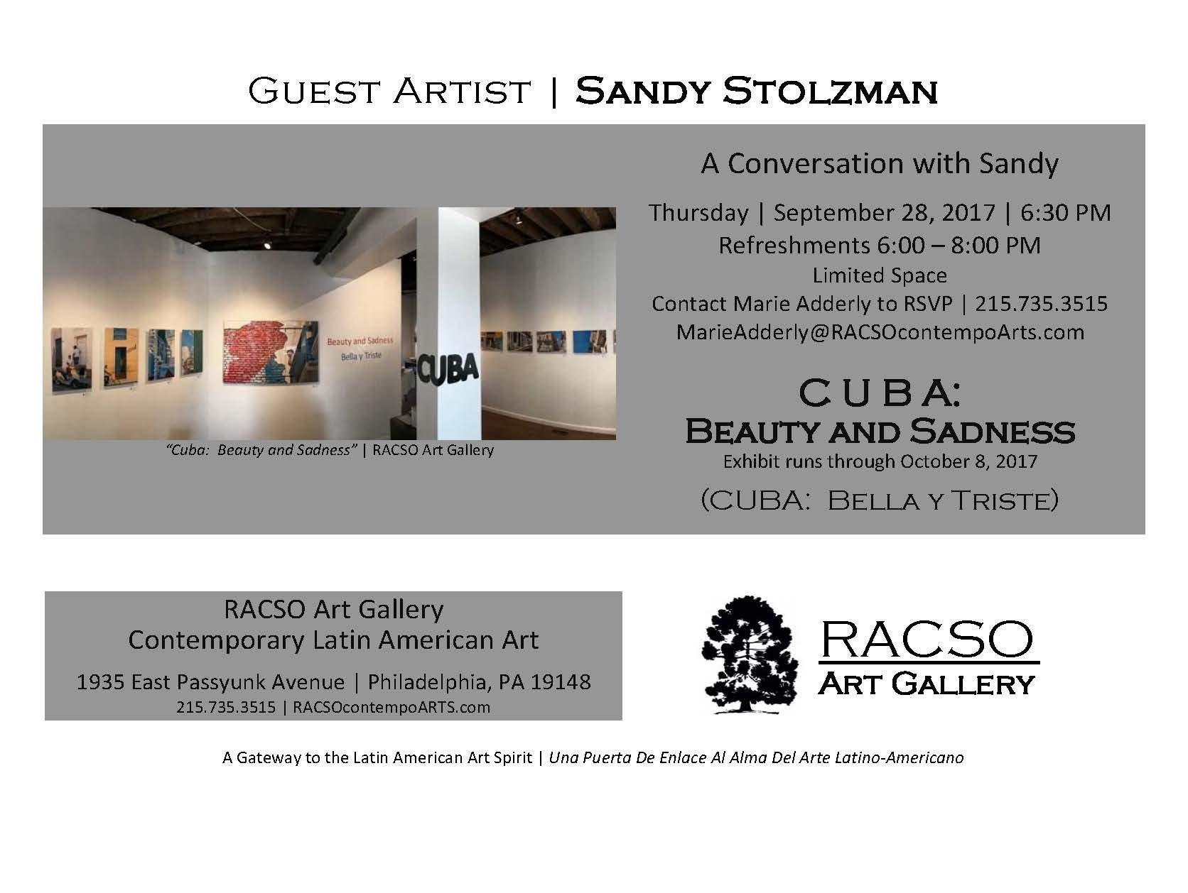 Arte Bella Gallery Invitation To Racso Art Gallery S Conversation With Sandy Stolzman