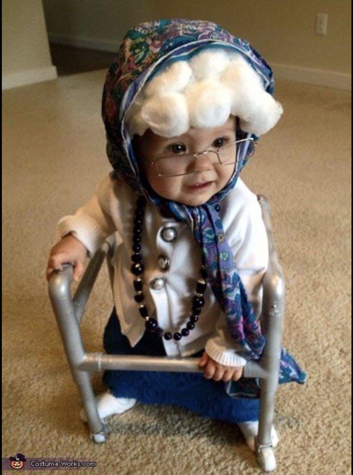 Kostüm Originell Old Lady Baby Costume Halloween Costumes Pinterest