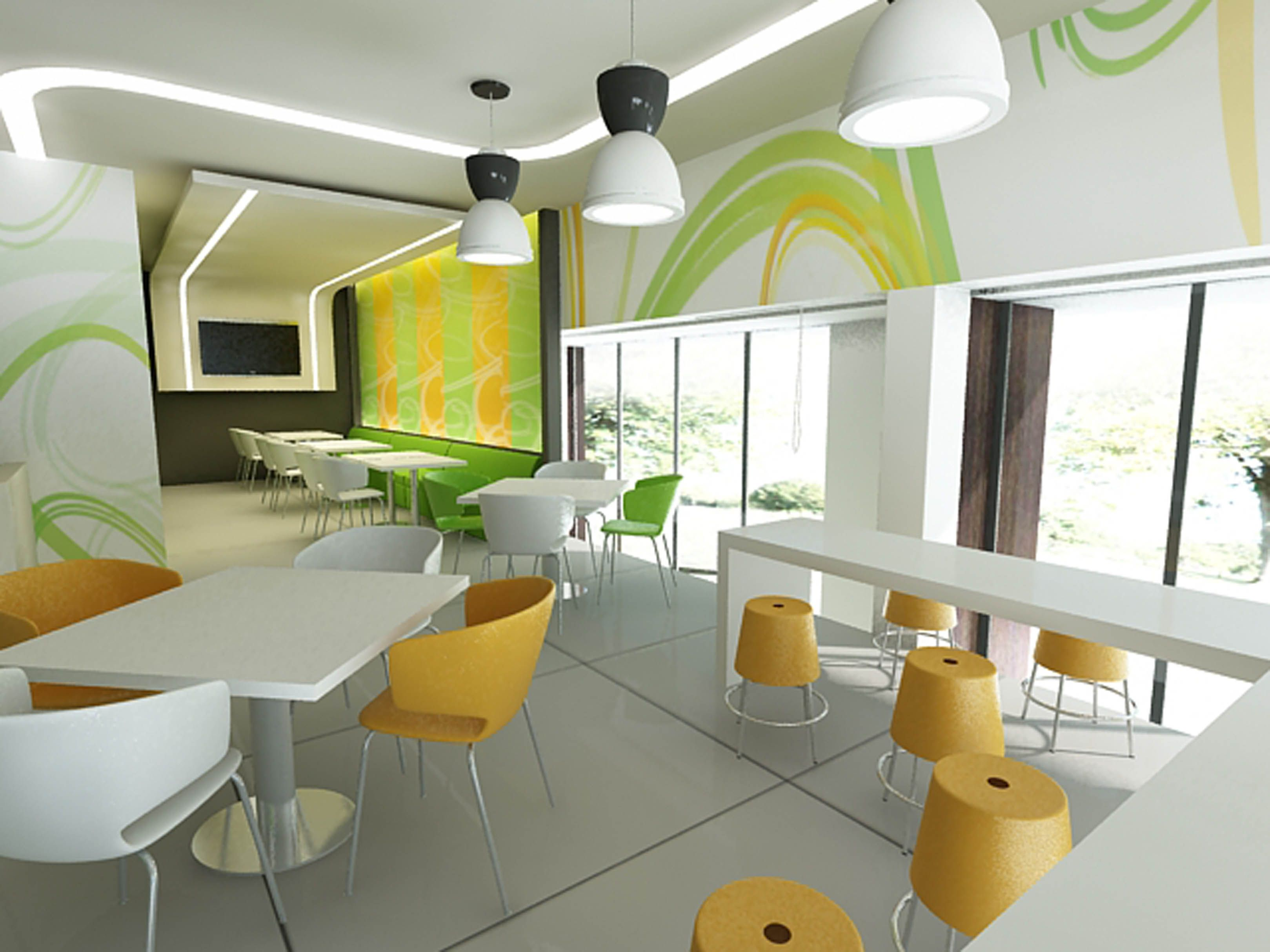 Decoration Fast Food 2 Interior Decoration Idea For Fast Food Restrurant 1