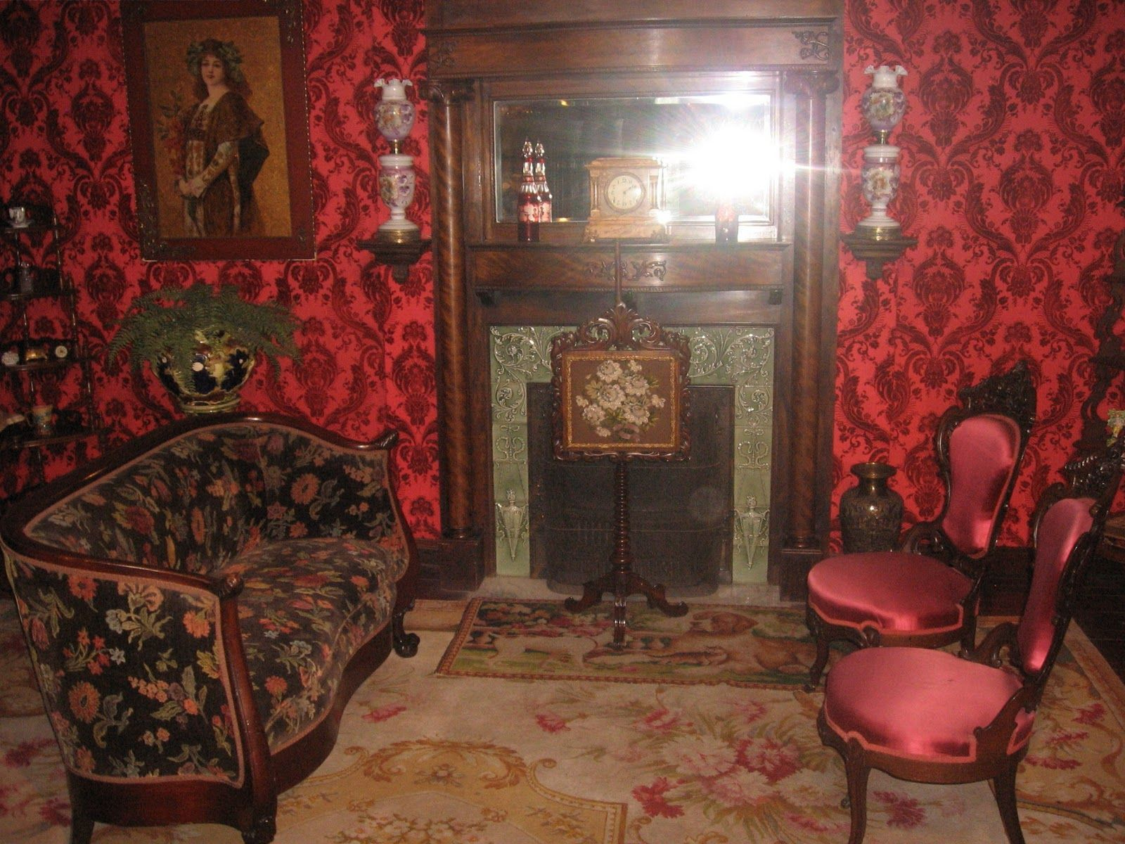 Gothic victorian living room -  Gothic Victorian Living Room With Red Colour Wall Download
