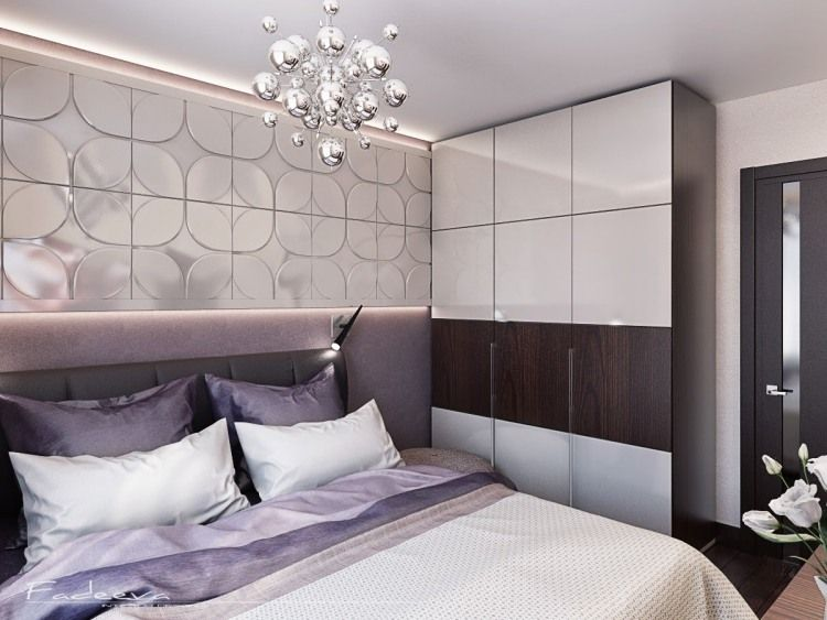 kleines schlafzimmer in lila wei und dunklebraun bett schlafzimmer lila wand schlafzimmer lila wand schlafzimmer - Fantastisch Schlafzimmer Beige Lila