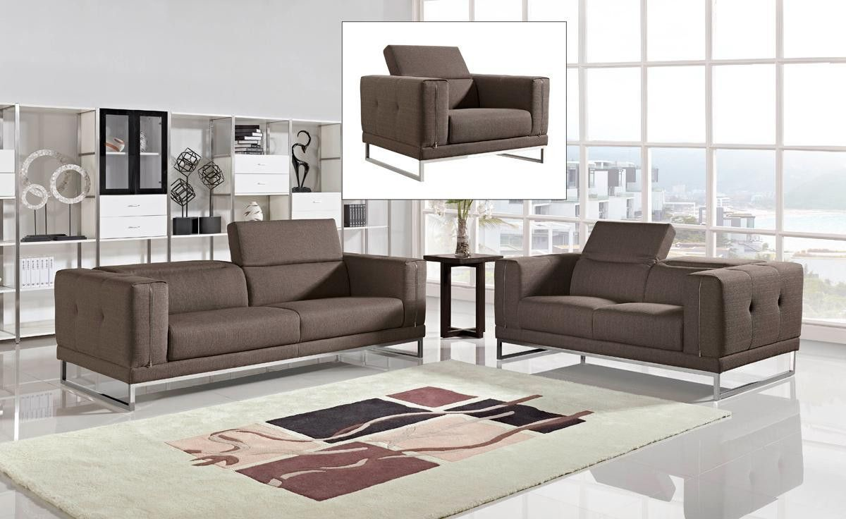 Divani Casa Encore Divani Casa Encore Modern Grey Leather Sofa Set Vg2t0724 Gry