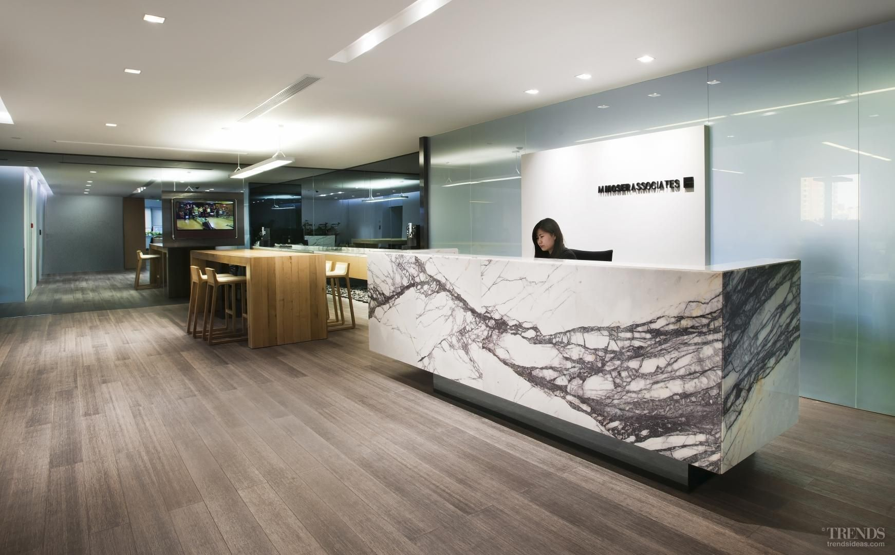 Executive Office Reception Design In Touch With Your World Futuristic Own Beijing Office