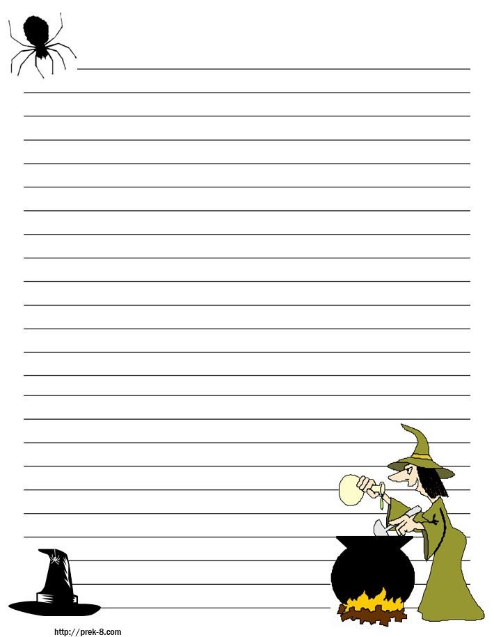 halloween pumpkins primary lined kids writing paper,free printable - lined border paper
