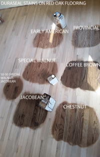Duraseal Stain on Red Oak Wood Flooring. Chestnut ...