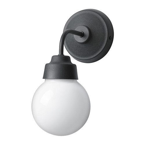 IKEA - VITEMÖLLA, Wall lamp, Gives a diffused light which is good - badezimmer lampe ikea