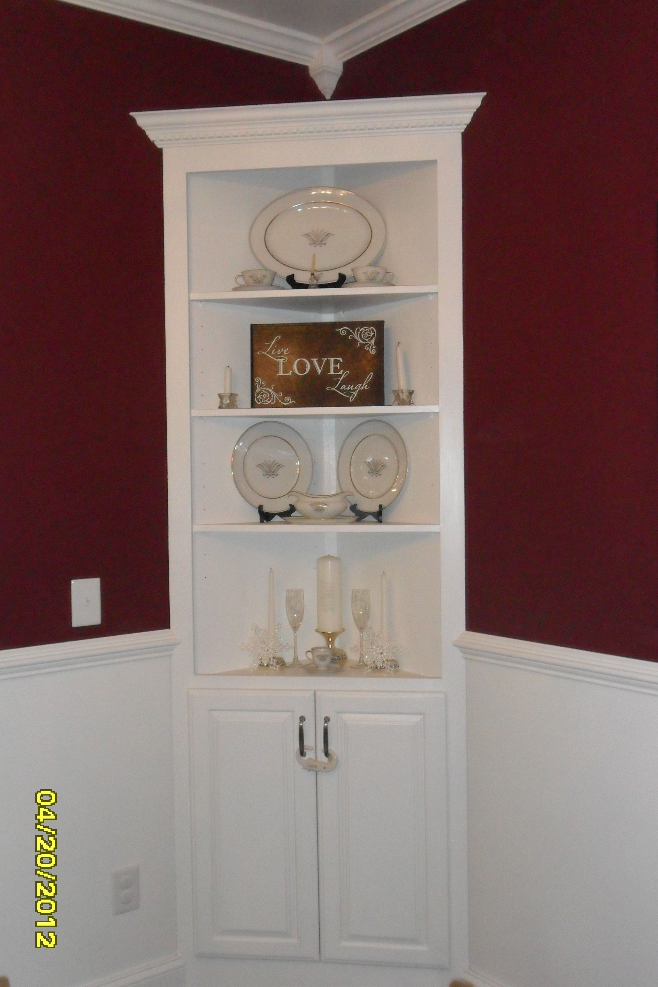 Kitchen Cabinet China Our Built In China Cabinet For The Home Pinterest