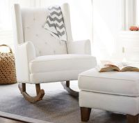 Modern Tufted Wingback Rocker, Stylish Nursery Chairs ...