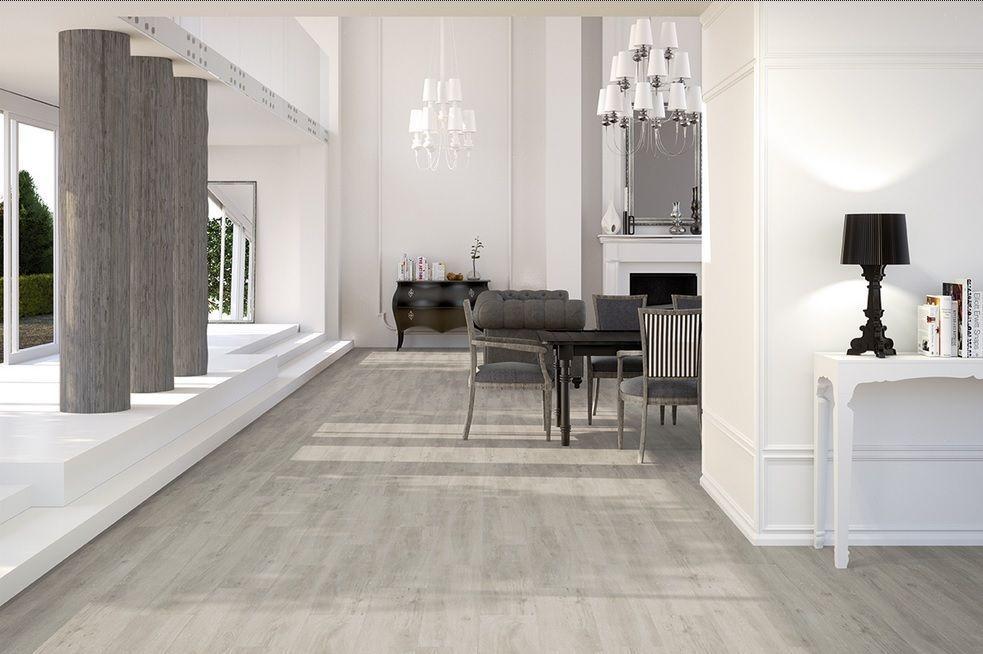 Fliesen Boden-\ Wandfliesen Feinsteinzeug Holzoptik Maryland Grey - badezimmer hell grauer boden