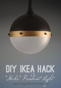 DIY Ikea Hack Hicks Pendant Light | Ikea hack, Pendant ...