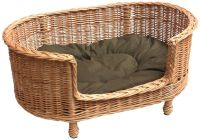 Vintage style #wicker dog bed / couch - UK. Handmade, all ...
