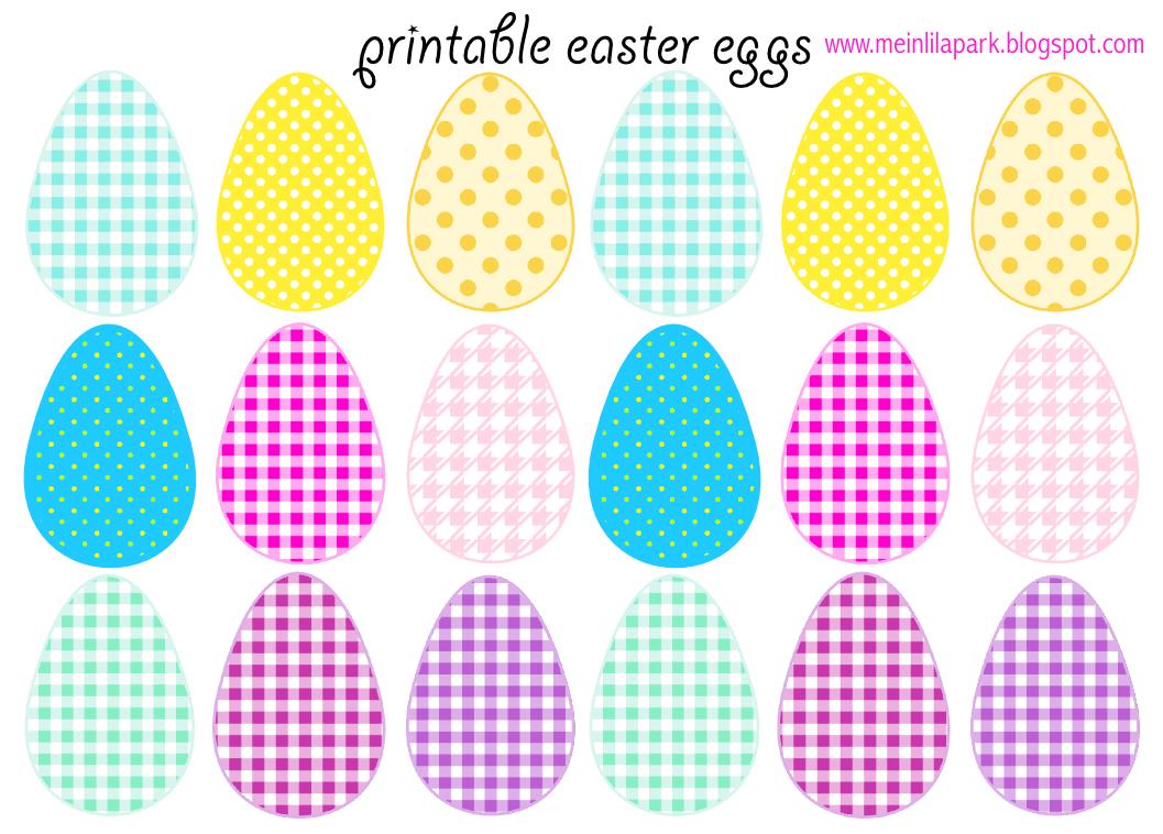Free printable cheerfully colored easter eggs ausdruckbare ostereier freebie meinlilapark digital freebies
