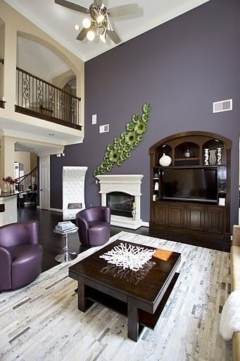 Living Room Purple Design, Pictures, Remodel, Decor and Ideas - purple living room decor