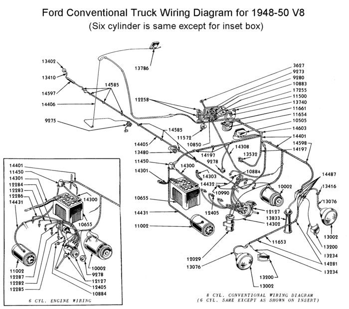 1950 ford truck wiring diagram