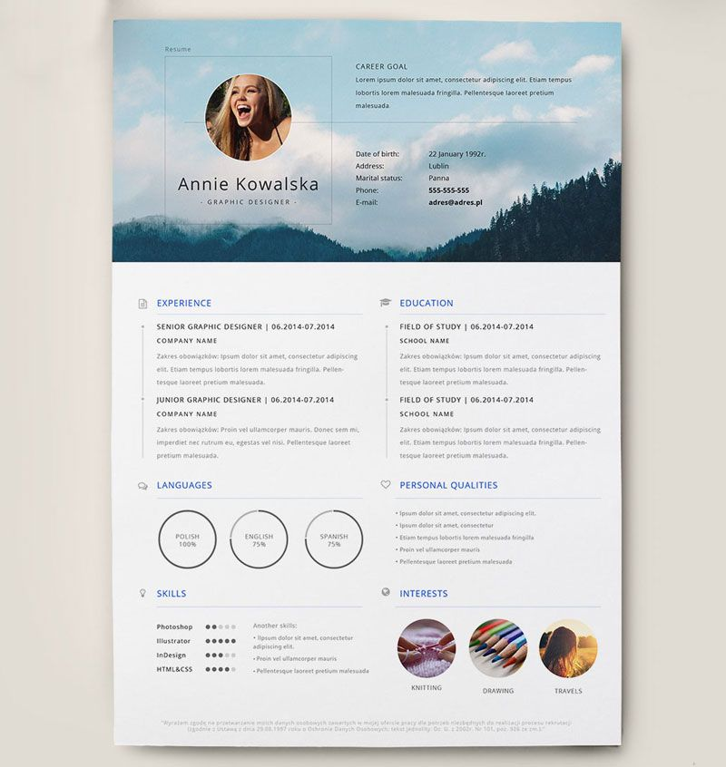 Best Free Clean Resume Templates in PSD, AI and Word Docx Format - clean resume templates