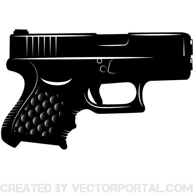 glock black vector silhouette