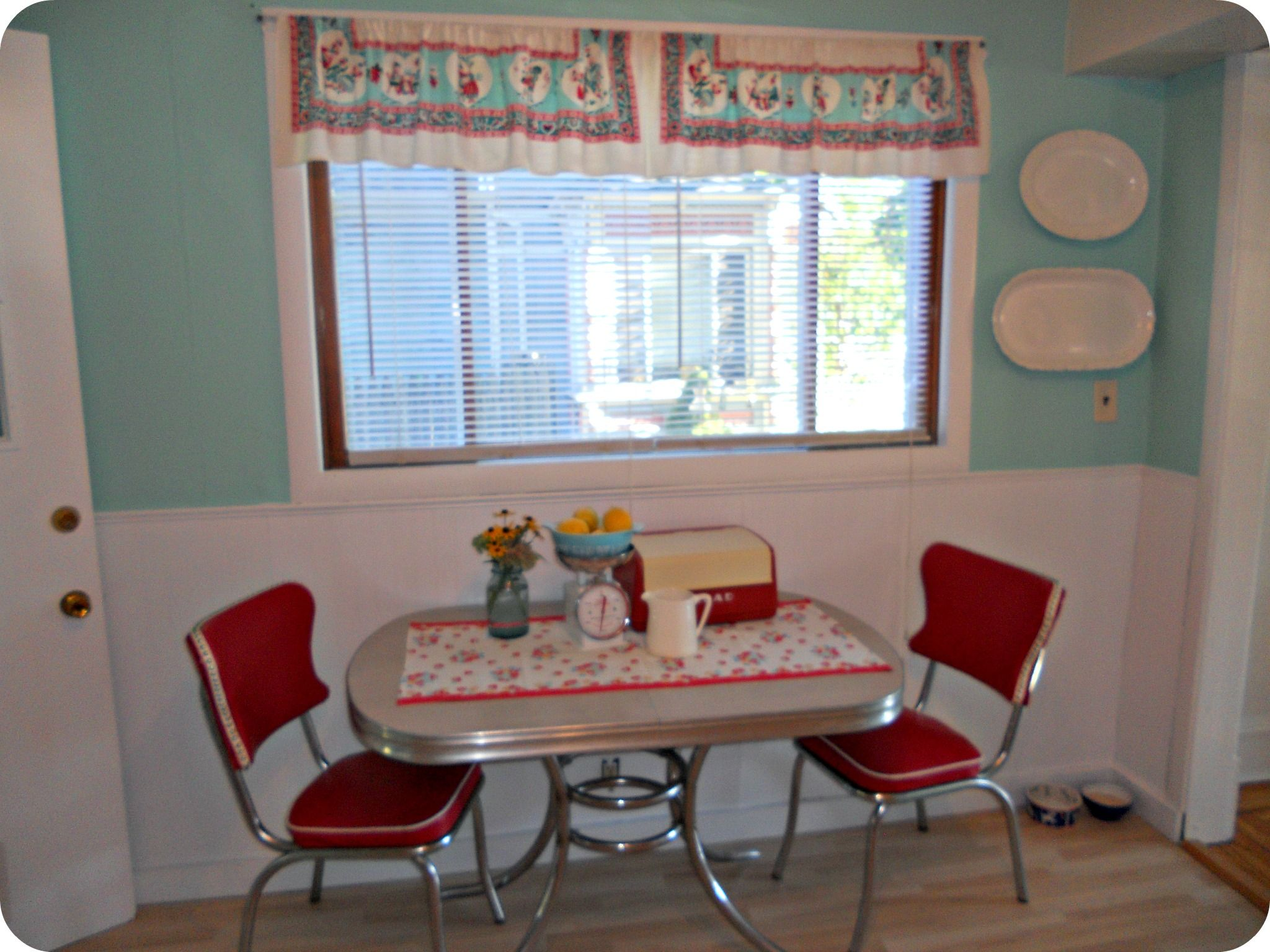 vintage and new chrome kitchen tables and chairs red kitchen table Kitchen Progress