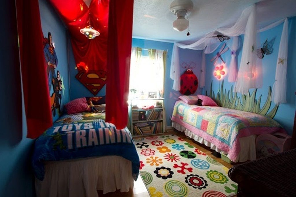 boy girl shared room bedding  Teenagers Bedroom Designs twins - boy and girl bedroom ideas