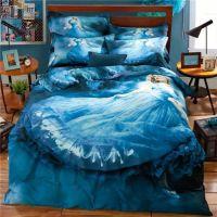 3D Fairy Princess Blue Bedding Set for Teens Girls ...
