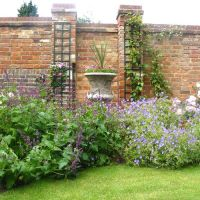 Houzz Brick Walled Garden | The old brick feature boundary ...