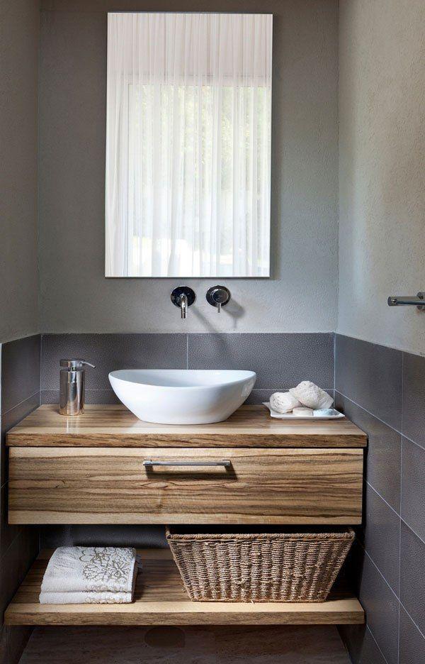 Toll Waschtisch Holz Aufsatzwaschbecken Unterschrank Regal Badezimmer   Broken  Design Holzmobel