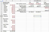 Financial Planning Worksheet Excel | Budget Templates ...